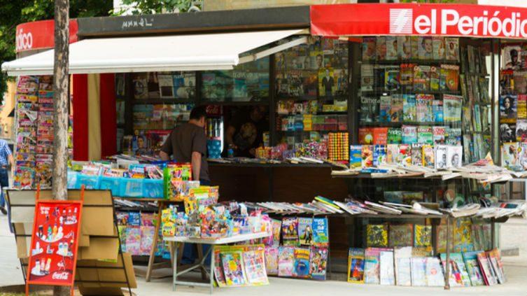 Spanish newspaper kiosk